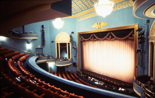 The interior of The National Theatre, photographed in 1984.